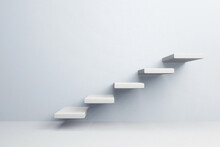 White Stair Step To Growth Suc...