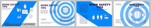 Fotomural Work safety tips brochure template