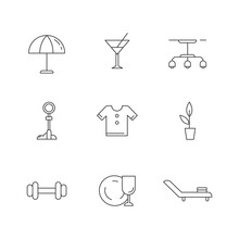 Lifestyle Linear Icons Set. Be...