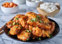 Crispy Fried Korean Chicken Wi...