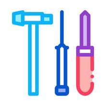 Watch Repair Fixing Instrument Icon Vector. Watch Repair Fixing Instrument Sign. Color Symbol Illustration