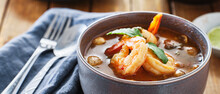 Thai Tom Yum Goong Soup With S...