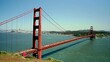 Time-lapse shot of traffic on the Golden Gate Bridge in San Francisco