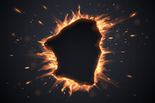 Hole With Explossive Fire And ...