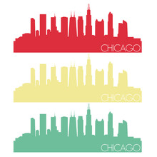 Chicago Skyline Silhouette Cit...