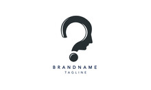 Innovative Question Mark Design, Human Head Design, Bulb Icon