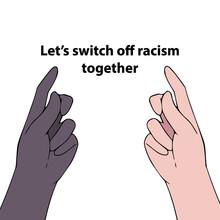 Peopla Hands Stop Racism