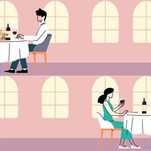 Social Distance In Restaurant,...