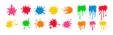 Paint Splatter Colorful Set. R...
