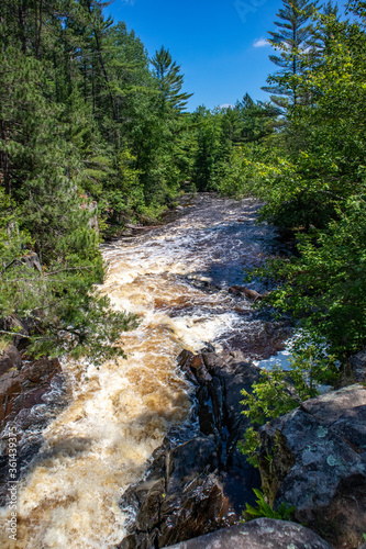 Dave's Falls in Marinette County, Amberg, Wisconsin June 2020 on the Pike River Canvas Print