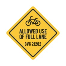 Bicycles Allowed Use Of Full L...