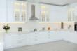 Leinwanddruck Bild - Elegant interior of new kitchen with stylish furniture