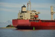 Large Red Bulk Carrier (cargo ...
