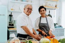 Senior Asian Married Couple Co...