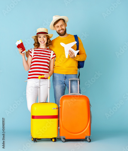 Young couple during summer trip