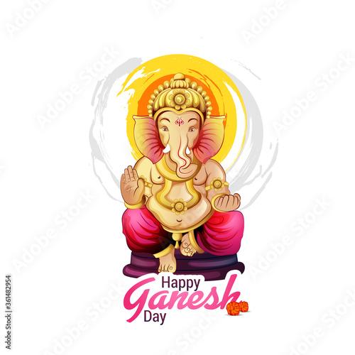 Платно illustration of Lord Ganpati background for Ganesh Chaturthi festival