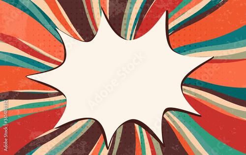 Photo Splash or speech bubble pop art