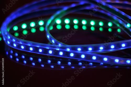 LED RGB strip - fototapety na wymiar