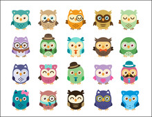 20 Owls Cute And Sweet Clipart