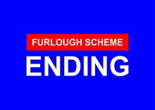 Furlough Scheme Ending Vector Background