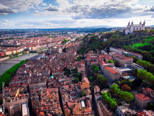 Valokuvatapetti La ville de Lyon et le Vieux Lyon
