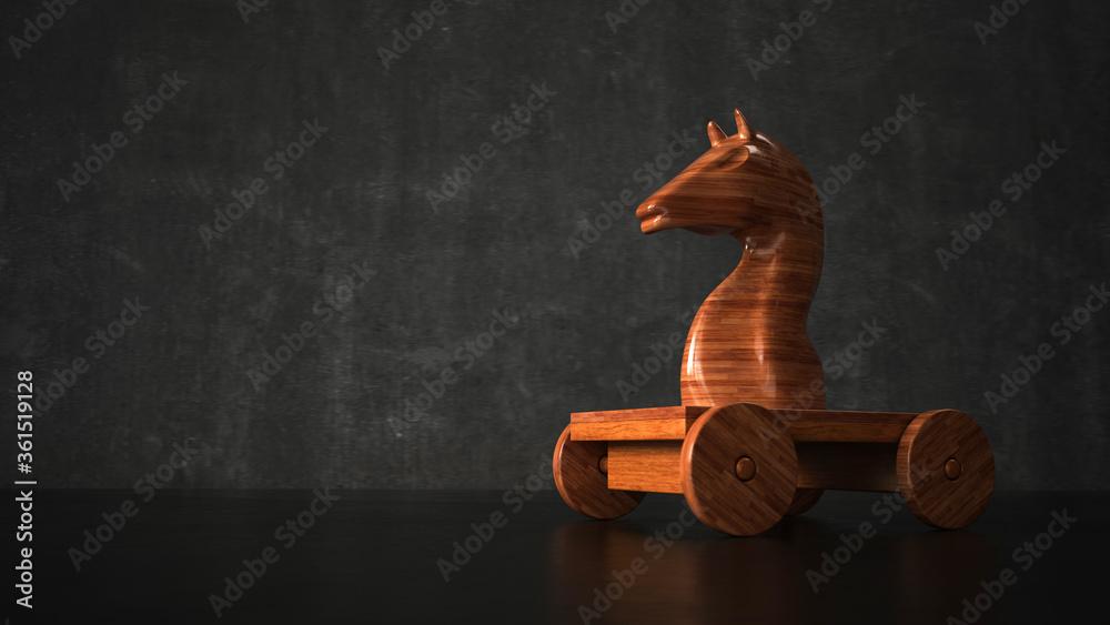 Fototapeta Wooden Trojan Horse