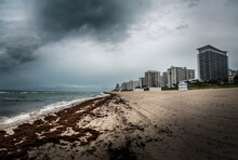 Miami Beach On Cloudy And Stor...