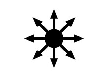 Symbol Of Chaos Vector Isolated On White Background. A Symbol Originating From The Eternal Champion, Later Adopted By Occultists And Role-playing Games.