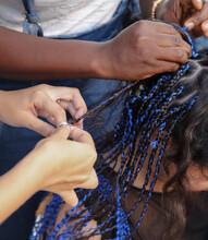 Girl Braids Blue African Braids