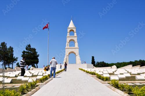 Cuadros en Lienzo Canakkale, Turkey - 24 June 2011: 57th Infantry Regiment Monument and cemetery