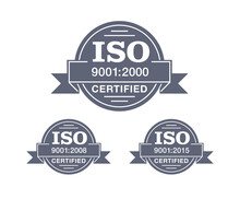 ISO 9001 Certified Stamp In 3 ...