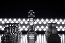 Closeup Shot Of A Chess Game W...