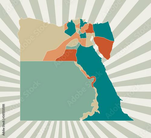 Canvas Print Egypt map