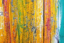 Grunge Wooden Panel Wall
