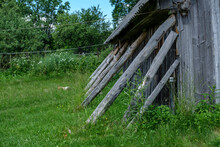 A Decaying Barn Made Of Wooden...