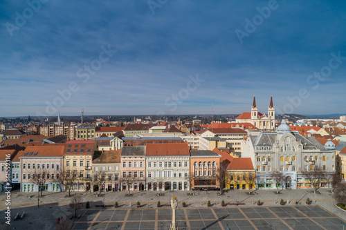 Tela Main Square of Szombathely Hungary
