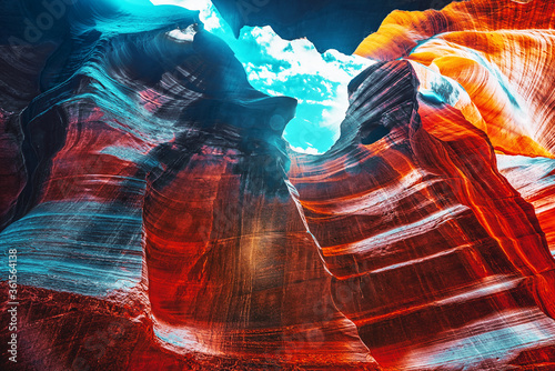 Antelope Canyon is a slot canyon in the American Southwest. Wallpaper Mural