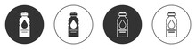 Black Bottle Of Water Icon Iso...