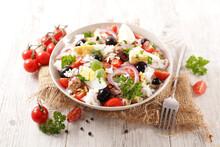 Rice Salad With Olive, Egg, Tu...