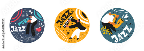 Photo Music set of a jazz orchestra