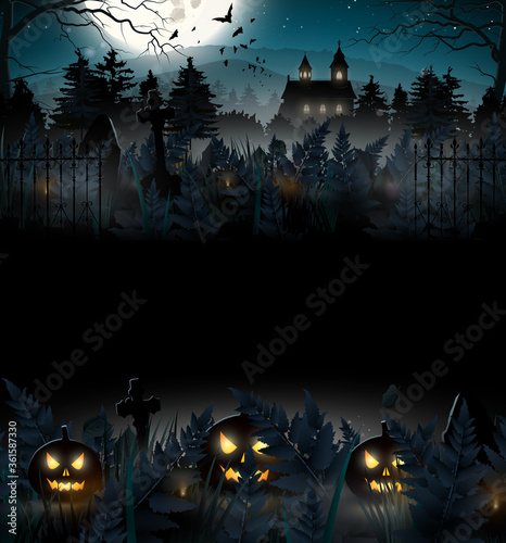 Halloween scary background Wallpaper Mural
