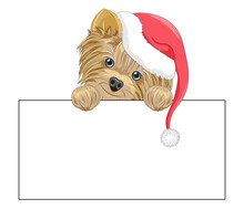 Yorkshire Terrier Dog Happy New Year Card