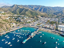 Aerial View Of Avalon Downtown...