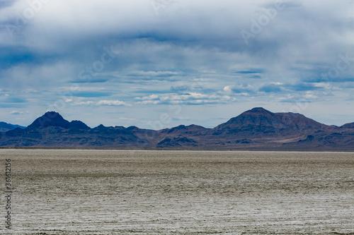 Fényképezés Beautiful view of the land at Bonneville Salt Flats, a popular site near Salt Lake City