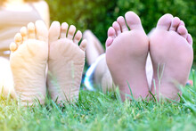 Feet In Grass, Cocept Of Rest
