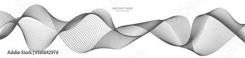 Fototapeta Abstract wave element for design