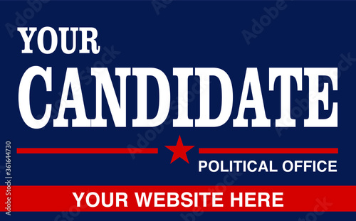 Political campaign lawn sign template for elections politicians candidate custom Canvas Print