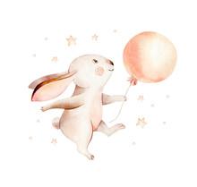 Cute Cartoon Rabbit Animal Han...