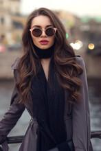 Fashionable Glamorous Girl Wit...
