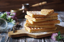 Belgian Waffles, Powdered Suga...